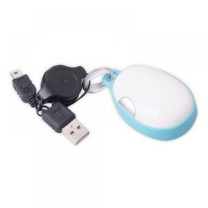 MOUSE OPTICO CON CABLE RETRACTIL
