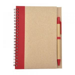 LIBRETA BIO DEGRADABLE CON PLUMA